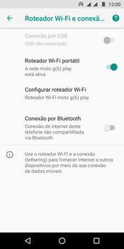 Motorola Moto G6 Play - Wi-Fi - Como usar seu aparelho como um roteador de rede wi-fi - Etapa 10