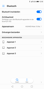 Huawei Mate 10 Lite (Model RNE-L21) - Bluetooth - Headset, carkit verbinding - Stap 5