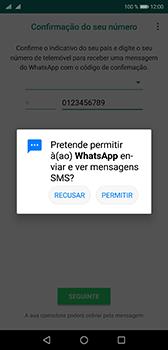 Huawei P20 - Aplicações - Como configurar o WhatsApp -  12
