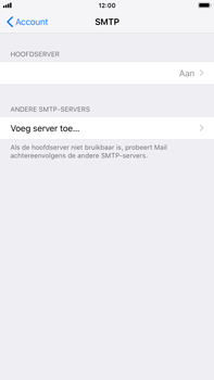 Apple iPhone 8 Plus - iOS 12 - E-mail - Account instellen (IMAP zonder SMTP-verificatie) - Stap 22