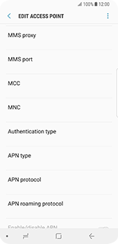 Samsung Galaxy S9 - MMS - Manual configuration - Step 12