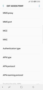 Samsung Galaxy S9 - Mms - Manual configuration - Step 12