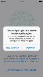 Apple iPhone SE iOS 10 - Aplicações - Como configurar o WhatsApp -  6