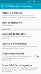 Samsung Galaxy J5 - Segurança - Como ativar o código PIN do cartão de telemóvel -  5
