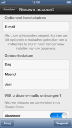 Apple iPhone 5 - Applicaties - Account aanmaken - Stap 10