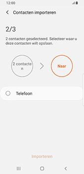 Samsung galaxy-s8-sm-g950f-android-pie - Contacten en data - Contacten kopiëren van SIM naar toestel - Stap 11