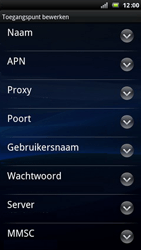 Sony Ericsson LT15i Xperia Arc - Internet - handmatig instellen - Stap 9