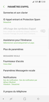 Samsung Galaxy S8 - Android Oreo - Messagerie vocale - configuration manuelle - Étape 7