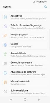 Samsung Galaxy S8 - Primeiros passos - Como encontrar o número de IMEI do seu aparelho - Etapa 4