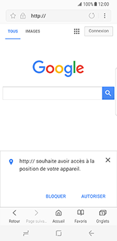 Samsung Galaxy S8 - Internet - Navigation sur Internet - Étape 7