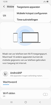 Samsung galaxy-a6-plus-sm-a605fn-ds-android-pie - WiFi - Mobiele hotspot instellen - Stap 8