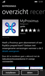 Microsoft Lumia 532 - Applicaties - MyProximus - Stap 8