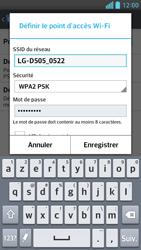 LG Optimus F6 - Internet et connexion - Partager votre connexion en Wi-Fi - Étape 8