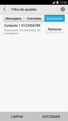 Huawei G620s - Chamadas - Como bloquear chamadas de um número -  10