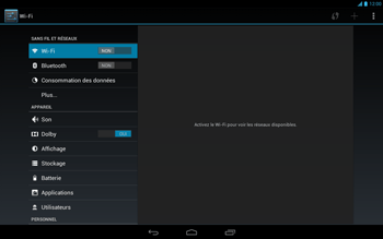 Acer Iconia Tab A3 - Internet - Activer ou désactiver - Étape 4