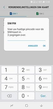 Samsung Galaxy A8 (2018) (SM-A530F) - Beveiliging en ouderlijk toezicht - Hoe wijzig ik mijn SIM PIN-code - Stap 9