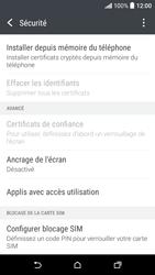 HTC Desire 530 - Sécuriser votre mobile - Personnaliser le code PIN de votre carte SIM - Étape 5