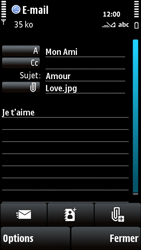 Nokia X6-00 - E-mail - envoyer un e-mail - Étape 12