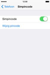 Apple iPhone 4S met iOS 8 (Model A1387) - Beveiliging en ouderlijk toezicht - Hoe wijzig ik mijn SIM PIN-code - Stap 5