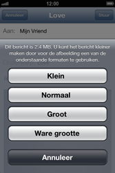 Apple iPhone 4 S met iOS 6 - E-mail - e-mail versturen - Stap 11