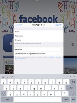 Apple iPad Pro 10.5 inch met iOS 11 (Model A1709) - Applicaties - Account aanmaken - Stap 8