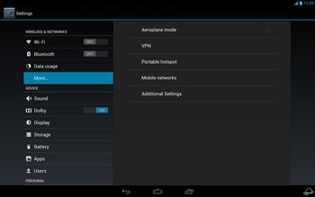 Acer Iconia Tab A3 - Network - Usage across the border - Step 5