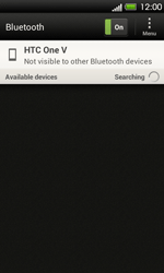 HTC T320e One V - Bluetooth - Pair with another device - Step 6