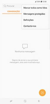 Samsung Galaxy S8 Plus - SMS - Como configurar o centro de mensagens -  5