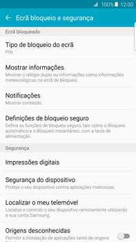 Samsung Galaxy S6 Edge + - Segurança - Como ativar o código de bloqueio do ecrã -  12