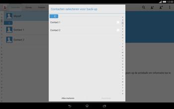 Sony Xperia Tablet Z2 4G (SGP521) - Contacten en data - Contacten kopiëren van toestel naar SIM - Stap 7