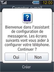 Samsung B3410 Star Qwerty - E-mail - Configuration manuelle - Étape 11