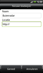 HTC A8181 Desire - Internet - Hoe te internetten - Stap 9
