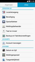 Huawei Ascend G6 4G (Model G6-L11) - Instellingen aanpassen - Fabrieksinstellingen terugzetten - Stap 4