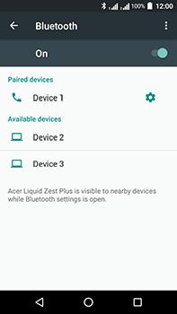 Acer Liquid Zest 4G Plus - WiFi and Bluetooth - Setup Bluetooth Pairing - Step 8