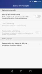 Huawei Y6 - Funções básicas - Como restaurar as configurações originais do seu aparelho - Etapa 4