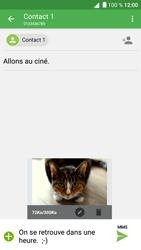 Alcatel Shine Lite - Mms - Envoi d