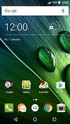 Acer Liquid Zest 4G - Applications - Create an account - Step 1