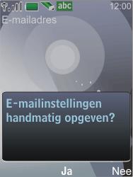 Nokia 7210 supernova - E-mail - Handmatig instellen - Stap 13
