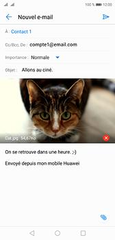 Huawei P20 - Dual SIM - E-mail - envoyer un e-mail - Étape 14
