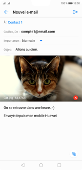 Huawei P20 - E-mail - envoyer un e-mail - Étape 14