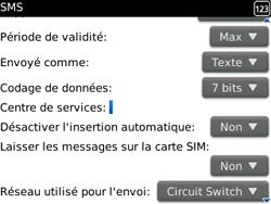 BlackBerry 9300 Curve 3G - SMS - Configuration manuelle - Étape 5