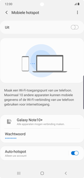 Samsung galaxy-note-10-plus-single-sim-sm-n975f - WiFi - Mobiele hotspot instellen - Stap 12