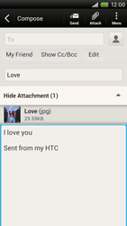 HTC S728e One X Plus - E-mail - Sending emails - Step 14