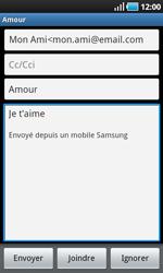 Samsung I9000 Galaxy S - E-mail - envoyer un e-mail - Étape 7