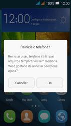 Huawei Y3 - Funções básicas - Como reiniciar o aparelho - Etapa 4