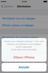 Apple iPhone 4 S iOS 9 - Device maintenance - Retour aux réglages usine - Étape 8