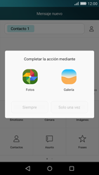 Huawei P8 Lite - Mensajería - Escribir y enviar un mensaje multimedia - Paso 12