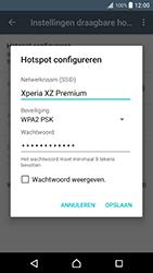 Sony Xperia XZ Premium (G8141) - WiFi - Mobiele hotspot instellen - Stap 8