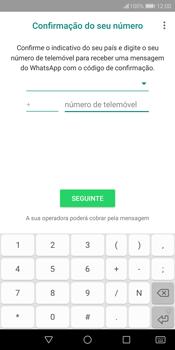 Huawei P Smart - Aplicações - Como configurar o WhatsApp -  9