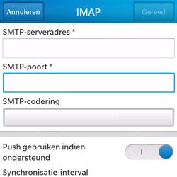 BlackBerry Q5 - E-mail - Account instellen (IMAP zonder SMTP-verificatie) - Stap 14